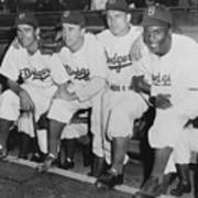 Jackie Robinson and Pee Wee Reese Poster