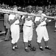Jackie Robinson, Duke Snider, and Pee Wee Reese Poster