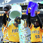 Jameson Taillon and Starling Marte Poster