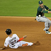Jed Lowrie and Giancarlo Stanton Poster
