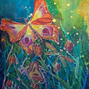 Jeweled Butterfly Fantasy Poster
