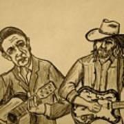 Johnny and Waylon Poster