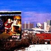 Kansas City Skyline at Christmas Poster