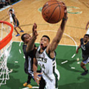 Kevin Durant and Giannis Antetokounmpo Poster