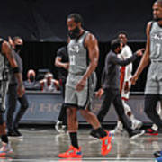 Kevin Durant, Kyrie Irving, and James Harden Poster