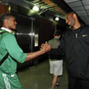 Kobe Bryant and Rajon Rondo Poster