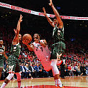 Kyle Lowry and Giannis Antetokounmpo Poster