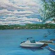 Lake Quinsigamond In Massachusetts Acrylic Poster