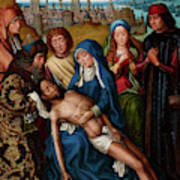 Lamentation With Saint John The Baptist And Saint Catherine Of Alexandria, 1501 Poster