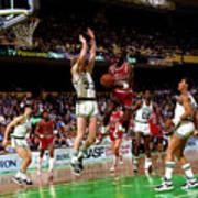 Larry Bird and Michael Jordan Poster
