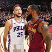 Lebron James and Ben Simmons Poster