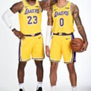 Lebron James and Kyle Kuzma Poster