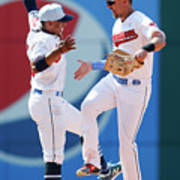 Lonnie Chisenhall and Francisco Lindor Poster