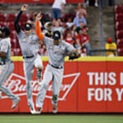 Marcell Ozuna, Christian Yelich, and Giancarlo Stanton Poster