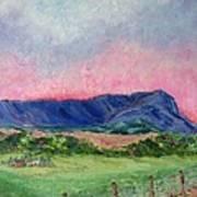 Massanutten Peak Beyond Dawn - SOLD Poster