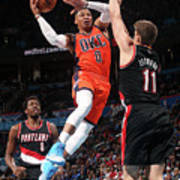 Meyers Leonard and Russell Westbrook Poster