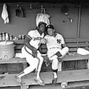 Mickey Mantle and Hank Aaron Poster