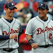 Miguel Cabrera and Rick Porcello Poster