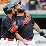 Mike Napoli, Lonnie Chisenhall, and Francisco Lindor Poster