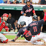 Mike Napoli, Lonnie Chisenhall, and Jett Bandy Poster