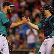 Mike Zunino and Tom Wilhelmsen Poster