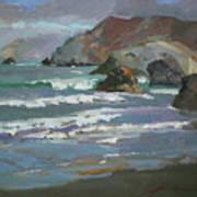 Morning Fog Shark Harbor - Catalina Island Poster