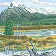 Mount Rundle Canadian Rockies Poster