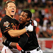 Nick Hundley and Adam Jones Poster