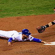 Omar Infante and Buster Posey Poster