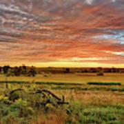 Pasture Sunrise Poster