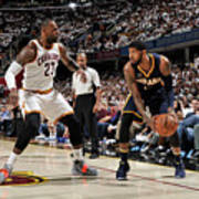 Paul George and Lebron James Poster