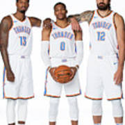 Paul George, Russell Westbrook, and Steven Adams Poster