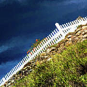 Picket fence, Cezanne style Poster