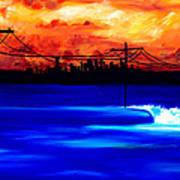 Power Trip - surf art Poster