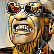 Ray Charles in Vibrant Contemporary Cubism Colors 20200725 Poster