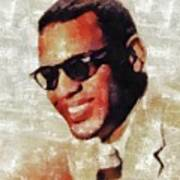 Ray Charles, Music Legend Poster