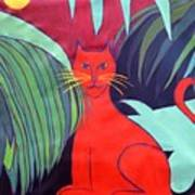 Red Cat Poster