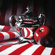 Red White And Apple Poster