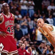 Reggie Miller and Michael Jordan Poster