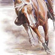 Reiner's Grace- Western Reining Horse Poster