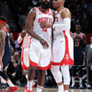 Russell Westbrook and James Harden Poster
