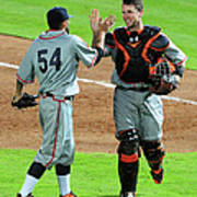 Sergio Romo And Buster Posey Poster