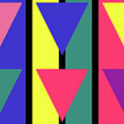 Spring Stripe Triangle Poster