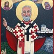 St. Nicholas Patron of Mariners Poster