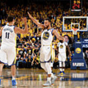 Stephen Curry and Klay Thompson Poster