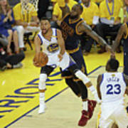 Stephen Curry and Lebron James Poster
