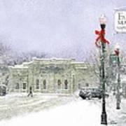 Strang Car Barn in Winter Poster