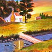 Sunset Cottage Poster