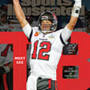 Tampa Bay Bucs Tom Brady Super Bowl LV Commemorative Issue Cover Poster