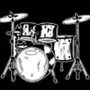 Tempo Music Band Percussion Drum Set Drummer Gift Poster